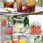 Bryllup: Cocktaildispensers & tag-selv-bord